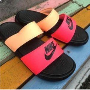 NWT Nike Benassi Duo Ultra Slide Sunset Glow RoseW